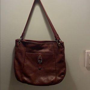 Stone Mountain genuine leather shoulder bag